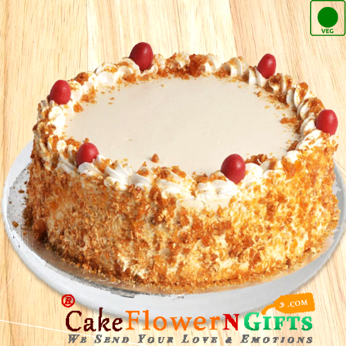 1kg Eggless Butterscotch Cake