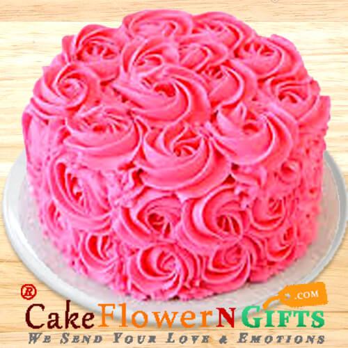 Half Kg Roses Chocolate Cake