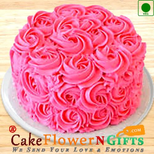 1kg Eggless Roses Chocolate Cake