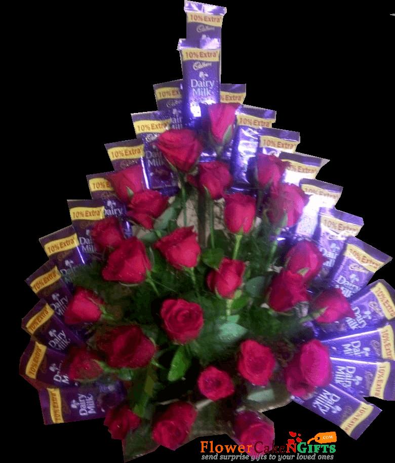 Flower Dairy Milk Chocolates Bouquet