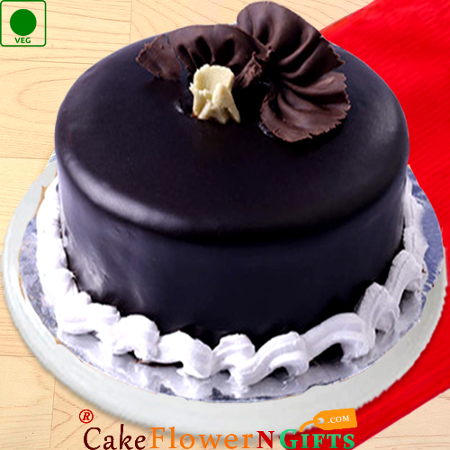 half kg eggless dark chocolate cake