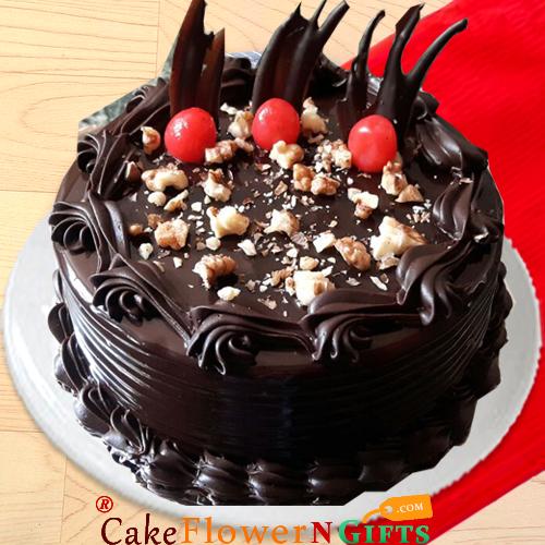 half kg walnut chocolate cake