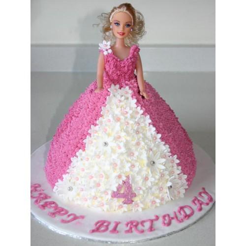 Superb Black Forest Barbie Doll Cake Cakeflowern Ts Com Birthday Cards Printable Opercafe Filternl