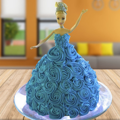 2 Kg Chocolate Barbie Cake Cakeflowerngifts Com