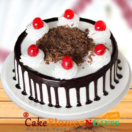 1Kg Black Forest Cake Round Shape
