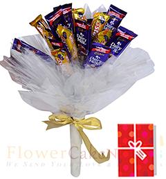 cadbury assorted chocolate bouquet