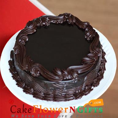 1kg eggless chocolate truffle cake