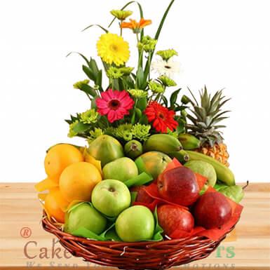 6 kg seasonal mixed fruit basket n Flower