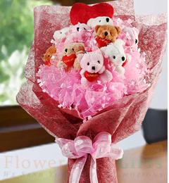 10 Teddy Bouquet