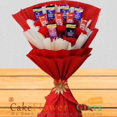 kitkat n dairy milk chocolate bouquet