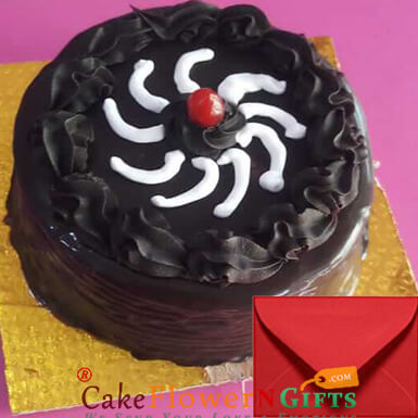 Eggless Chocolate Truffle Half Kg with Card