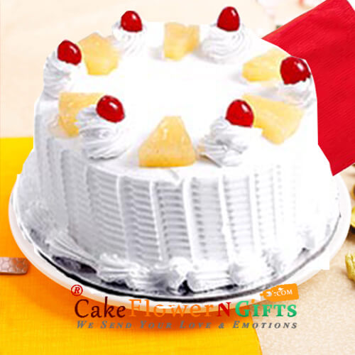 Eggless Pineapple Cake Half Kg Any Occasion