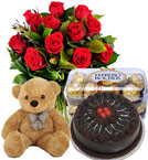 Order Online Delivery of Cadbury Chocolates + Teddy with Bouquet Flower to Ghaziabad Sameday midnight