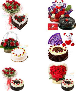 Order Online Midnight Flower Bouquet And Cake Delivery In Dhanbad By City Florist