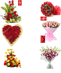 send Online Roses Flower Bouquet Home Delivery Servces to Hoshiarpur City Samday or Midnight Online Order Now