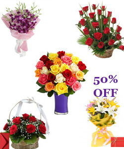 send Online Roses Flower Bouquet Home Delivery Servces to Saharanpur City Samday or Midnight Online Order Now